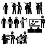 De Pictogrammen van de Beperkingencliparts van censorscensorhip government media Stock Afbeelding