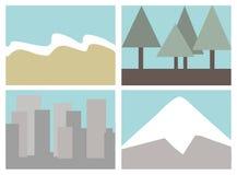 De pictogrammen van de bestemming Stock Fotografie