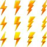 De pictogrammen van de bliksem Royalty-vrije Stock Foto
