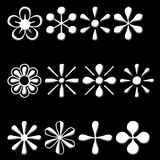 De pictogrammen van de bloem Royalty-vrije Stock Foto's