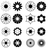 De pictogrammen van de bloem Royalty-vrije Stock Afbeeldingen