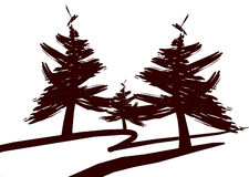 De pictogrammen van de boom - 0041 vector illustratie