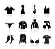 De pictogrammen van de Boutique en van de manier van de kleding Royalty-vrije Stock Foto's