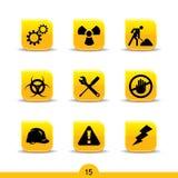 De pictogrammen van de bouw 15? vlotte reeksen vector illustratie
