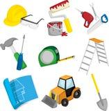 De pictogrammen van de bouw Royalty-vrije Stock Foto