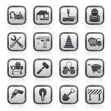 De pictogrammen van de bouw en van de bouw Royalty-vrije Stock Fotografie