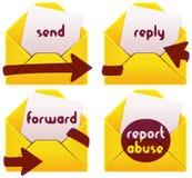 De pictogrammen van de brievenbus vector illustratie
