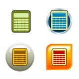 De Pictogrammen van de calculator Royalty-vrije Stock Foto's