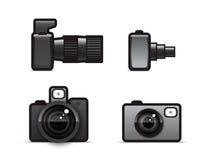 De pictogrammen van de camera Royalty-vrije Stock Afbeeldingen