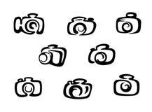 De pictogrammen van de camera vector illustratie