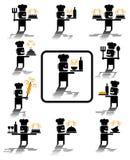 De pictogrammen van de chef-kok Stock Foto