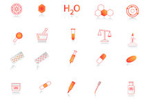De pictogrammen van de chemie Royalty-vrije Stock Foto's