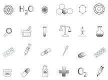 De pictogrammen van de chemie stock illustratie