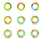De Pictogrammen van de cirkelpijl Stock Foto