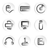 De pictogrammen van de computer Royalty-vrije Stock Fotografie