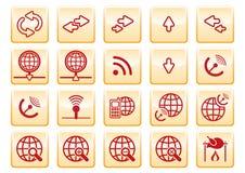 De pictogrammen van de computer Stock Afbeelding