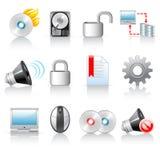 De pictogrammen van de computer Stock Fotografie