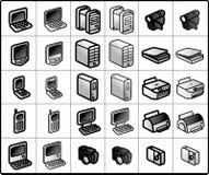 De Pictogrammen van de computer Royalty-vrije Stock Foto's