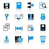 De pictogrammen van de computer Stock Foto's