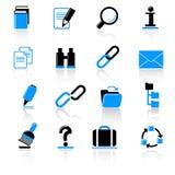 De pictogrammen van de computer Stock Afbeeldingen