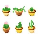 De pictogrammen van de computer, cactus stock illustratie
