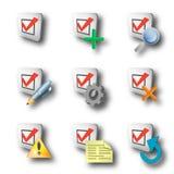De pictogrammen van de controle Stock Foto