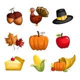 De pictogrammen van de dankzegging stock illustratie