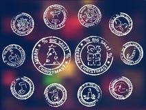 De pictogrammen van de de wintervakantie Stock Afbeeldingen