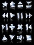 De pictogrammen van de diamant Stock Afbeelding