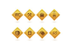 De pictogrammen van de dienst Royalty-vrije Illustratie