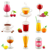 De pictogrammen van de drank Stock Foto's