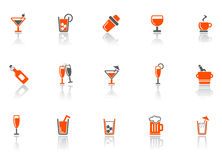 De pictogrammen van de drank en van de staaf. Royalty-vrije Stock Foto's