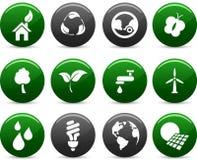 De pictogrammen van de ecologie. stock illustratie