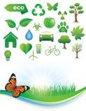De pictogrammen van de ecologie Royalty-vrije Stock Afbeeldingen