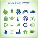 De pictogrammen van de ecologie Stock Foto's