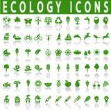 De pictogrammen van de ecologie Royalty-vrije Stock Foto's