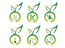 De pictogrammen van de ecologie Stock Foto
