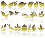 De pictogrammen van de ecologie Stock Afbeelding