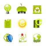 De pictogrammen van de ecologie | De reeks van Bella Stock Foto