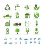 De pictogrammen van de ecologie en van het milieu stock illustratie