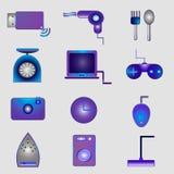 De pictogrammen van de elektronika Royalty-vrije Stock Foto's