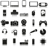 De pictogrammen van de elektronika Stock Afbeelding