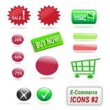 De pictogrammen van de elektronische handel, deel 2 Stock Foto's