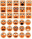 De pictogrammen van de emotie Stock Afbeeldingen