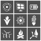 De pictogrammen van de energie Stock Foto