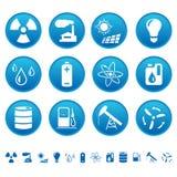 De pictogrammen van de energie & van het middel Stock Foto's