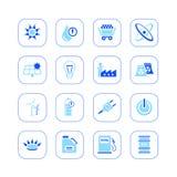 De pictogrammen van de energie - blauwe reeks Vector Illustratie