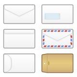 De Pictogrammen van de envelop Royalty-vrije Stock Afbeeldingen