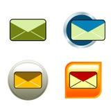 De Pictogrammen van de envelop Royalty-vrije Stock Foto