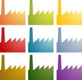 De pictogrammen van de fabriek clipart plaatsen Royalty-vrije Stock Foto